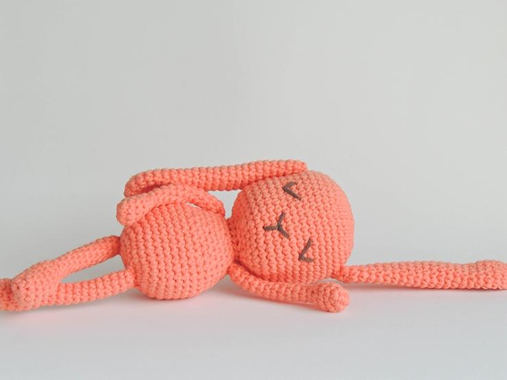 stuffed, animal, plush, rabbit, bunny, toy, soft, safe, crib, pink, baby girl, baby boy, newborn, baby shower, crochet, amigurumi