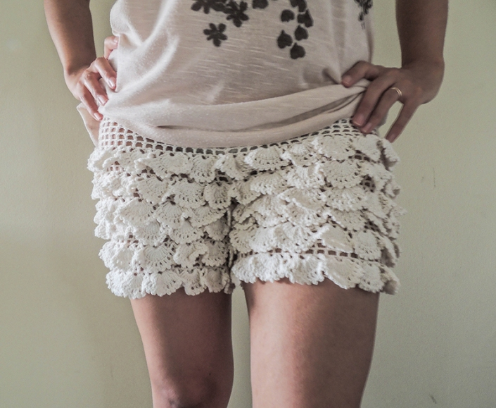 white, crochet, shorts, knitted, crochet, bech, summer, fashion clothes for women.