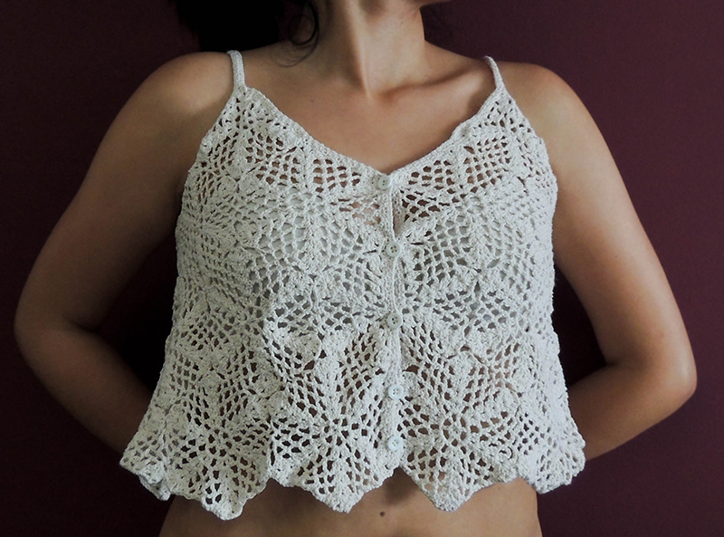 White, crop top, crochet, knitted, romantic, blouse, hippie chic, boho glam, style. Summer clothes. Women beach clothes, summer dresses, summer holidays