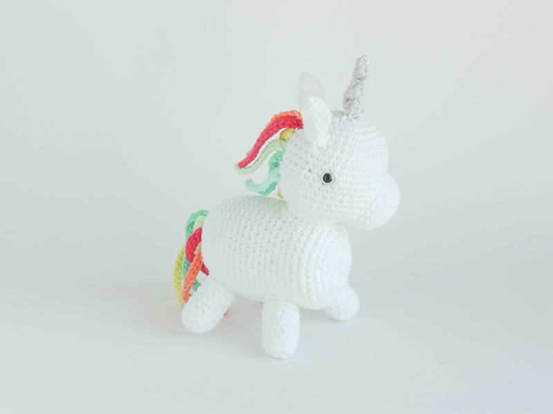 unicorn, crochet, amigurumi, doll, rainbow, white, hourse, magical, gift, tiny, plushie, stuffie, unicornio, juguete, mini, regalo,arcoiris