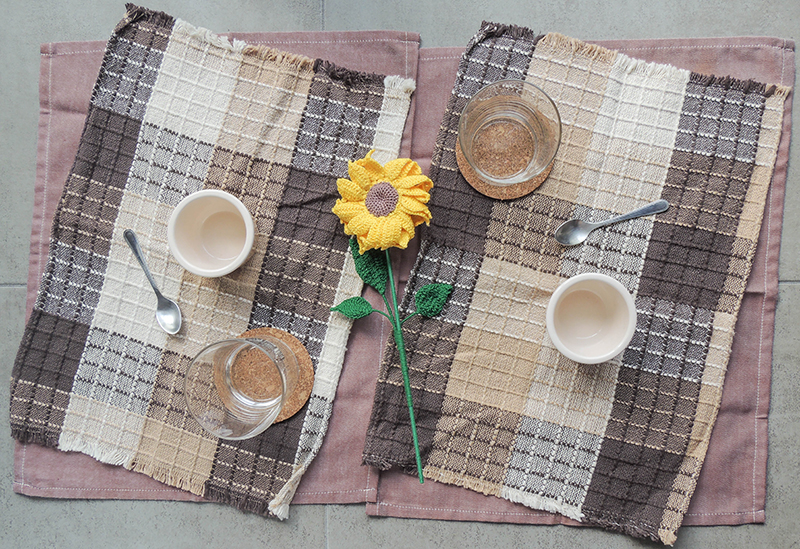 sunflower, crochet, yellow, cotton, gift, home, decor, rural, country, style, table, center, piece, picnic, breakfast, girasol, picnic, desayuno, camestre