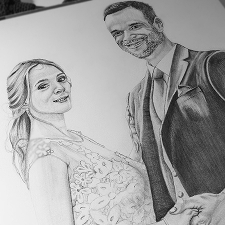 personalized pencil portrait valentines and anniversary special gift 1