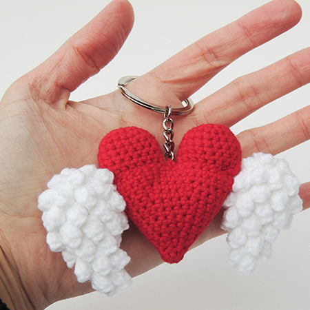winged heart keychain Valentines gift 1