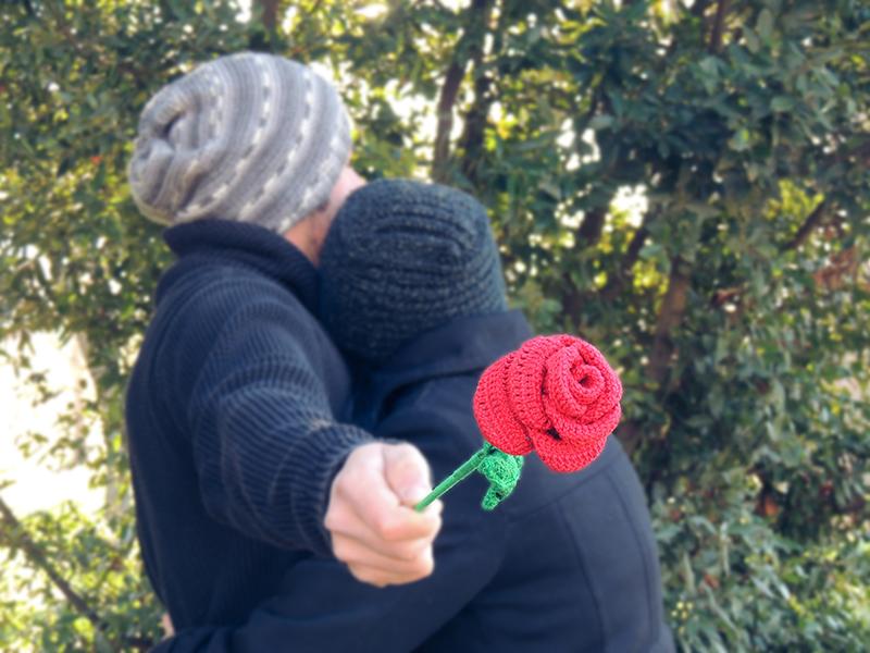 rose, rosa, regalo, regal, gift, sant jordi, dia del libro, day of book, diada del llibre, handmade, fet a ma, hecho a mano, ganxet, ganchillo, crochet.